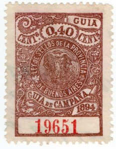 (I.B) Argentina Revenue : Buenos Aires Local Tax 40c (Guia de Campana)