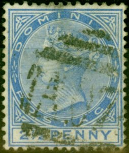 Dominica 1888 2 1-2d Ultramarine SG23 Fine Used Stamp