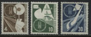 Germany 1953 Munich Exhibition 4pf, 10pf, & 30pf unmounted mint NH