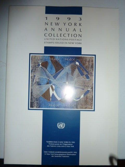 1993 United Nations New York Annual collection of Postage Stamps