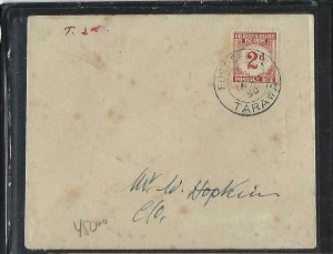 GILBERT & ELLICE ISLANDS (P0511B) 1950 UNPAID LOCAL COVER POSTAGE DUE 2D TARAWA