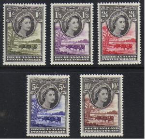 Bechuanaland Prot. #161-5 mint, Elizabeth II, issued 1955