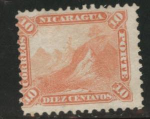 Nicaragua Scott 6 mint no gum white paper