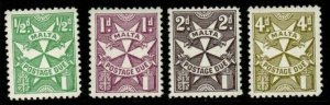 MALTA SGD28/31 1967 POSTAGE DUE SET ORDINARY PAPER MNH
