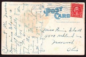 $Florida Machine Cancel Cover, Clermont, 11/23/1925 7 wavy lines flat slope down