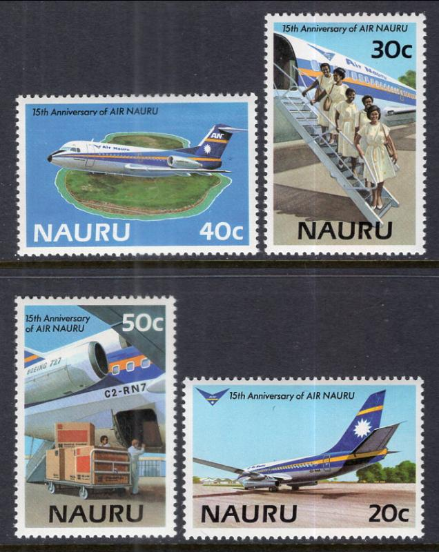 Nauru 303-306 Airplanes MNH VF