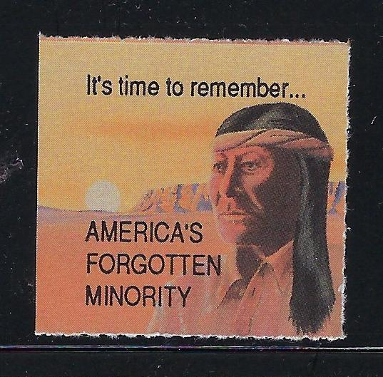 VEGAS-Vintage Remember Minority Native American Promotional Poster Stamp(CQ121)