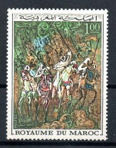 1970 - Morocco - Moroccan Art Fantasia- Horses- Painting-Complete set 1v.MNH**