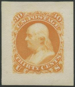 #71P2 XF-SUPERB LARGE DIE ON INDIA PAPER WITH APS CERT CV $500 BS5726