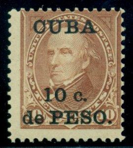 CUBA #226, 10¢ brown Ovpt, og, NH, Fine, Scott $70.00