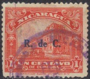 NICARAGUA SC# RA39  *USED*  1c 1929  POSTAL TAX SEE SCAN
