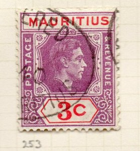 Mauritius 1938 GVI Early Issue Fine Used 3c. NW-90947