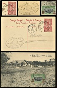 Belgian Congo 1922  Postal Stationery Card Uprated