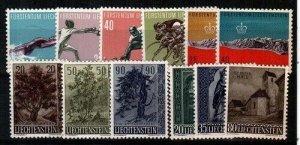 Liechtenstein Scott 320-31 Mint NH (1958 Year Set) [TE337]
