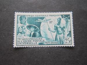 French Equatorial Africa 1949 Sc C34 MH