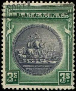 Bahamas SC# 91a SG# 132a Colony Seal 3shillings used