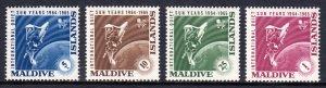 Maldives - Scott #147-150 - MNH - Typical patchy gum - SCV $2.40