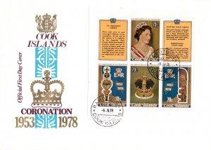 Cook Islands 487 Souvenir Sheet U/A FDC