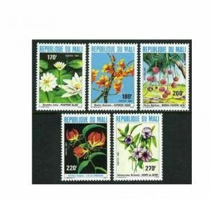 Mali 442-446,MNH.Michel 894-898. Flowers 1982.