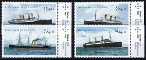 Michel# 2809-12 MNH Youth: Historic steamships