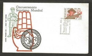 1968 Scout Uruguay Baden Powell FDC