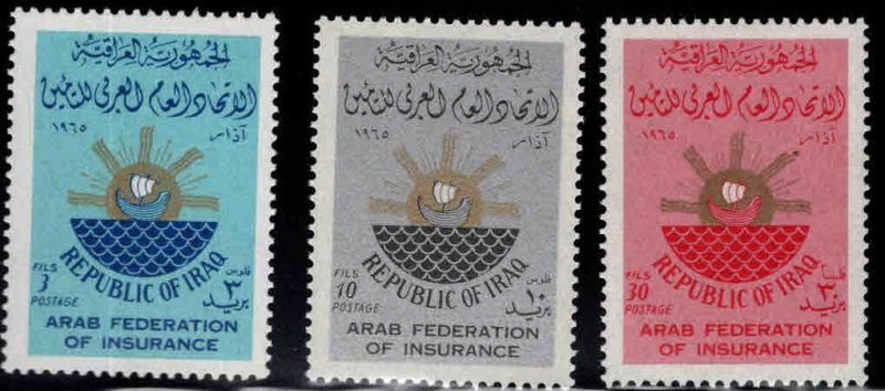 IRAQ Scott 369-371 MH*  1965 set
