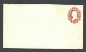 1860 U26 Mint Entire 3c Red Star Die 9 Size 1 UPSS #48 Working Die Type #9 Wmk 1