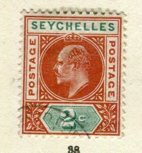 SEYCHELLES; 1903 early ED VII issue fine used 2c. value
