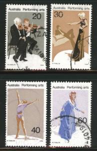 AUSTRALIA Scott 655-8 used Performing Art set