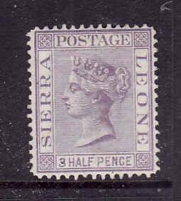Sierra Leone-Sc#13-unused hinged 1&1/2p violet-QV-1877-