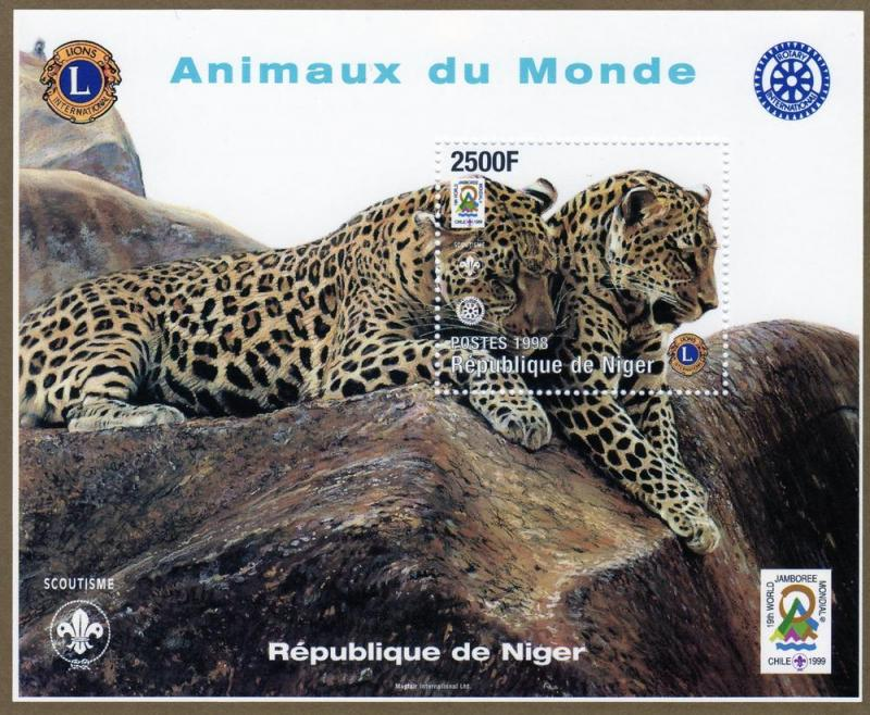 Niger 1998 Scouts Rotary 3 Sheets & 3 S/S Perforated mnh.vf