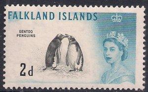 Falkland Islands 1960 - 66 QE2 2d Gentoo Penguins MM SG 195 ( F1495 )