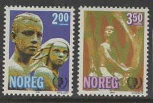 NORWAY SG954/5 1985 INTERNATIONAL YOUTH YEAR MNH