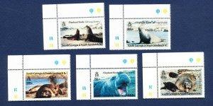 SOUTH GEORGIA   - # 151-156 - VFMNH - Elephant Seals, animal topic - 1991