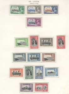 St. Lucia Stamps 1916-36 Approx. CV. $120 (JH 9/22) GP