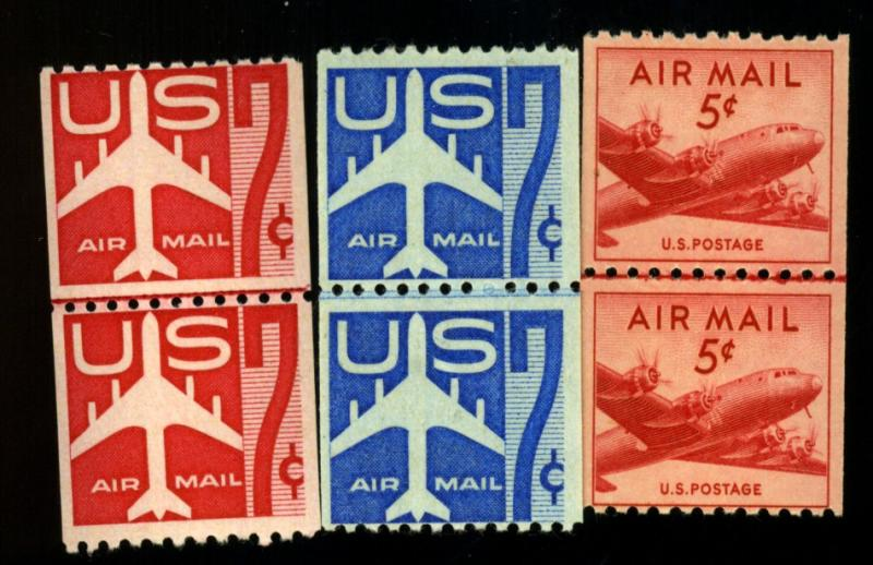 C37 C52 C61 MINT Line pairs F-VF OG NH Cat$60