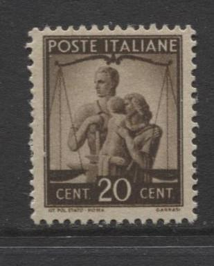 Italy - Scott 464 - Definitive -1945 -MLH - Single 20c Stamp