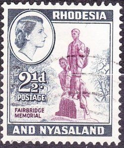 RHODESIA & NYASALAND 1959 2.5d Purple & Grey-Blue SG21 Used