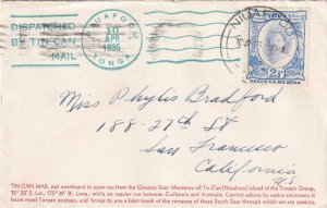 1935, Nouafoou, Tonga to San Francisco, CA, See Remark (43066)