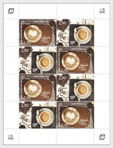 Stamps Bosnia and Herzegovina Mostar 2018 - International Coffee Day - Sheet.