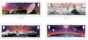 Isle of Man Sc 981-4 2003 Space Exploration stamp set used