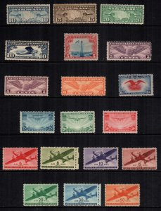 US  19  mint hinged MH air mails