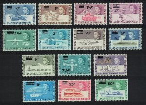 BAT Decimal Currency overprints 14v SG#24-37