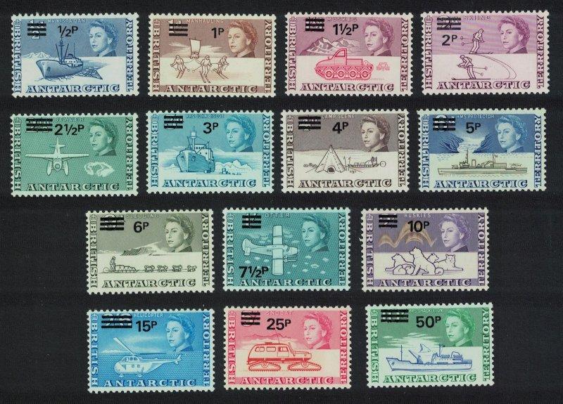 BAT Decimal Currency overprints 14v SG#24-37