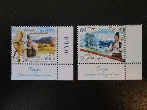 Serbia #661-62 Mint Never Hinged Europa (M8H5) WDWPhilatelic 5
