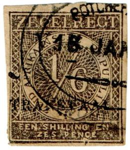(I.B) Transvaal Revenue : Duty Stamp 1/6d