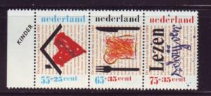 Netherlands Sc B647-9 1989 Children's Righ stamp set mint NH