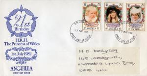 Anguilla 1982 H.R.H DIANA PRINCESS OF WALES 21st.BIRTHDAY Cover send to UK