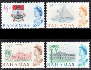 Bahamas Scott 204-07 F to VF mint OG H or HR.