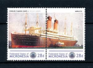 [90652] Micronesia  Ships Adriatic Ocean Liners White Star Line Pair MNH